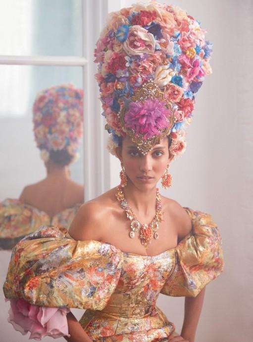 Cora Emmanuel for Harper's Bazaar UK by Richard Phibbs