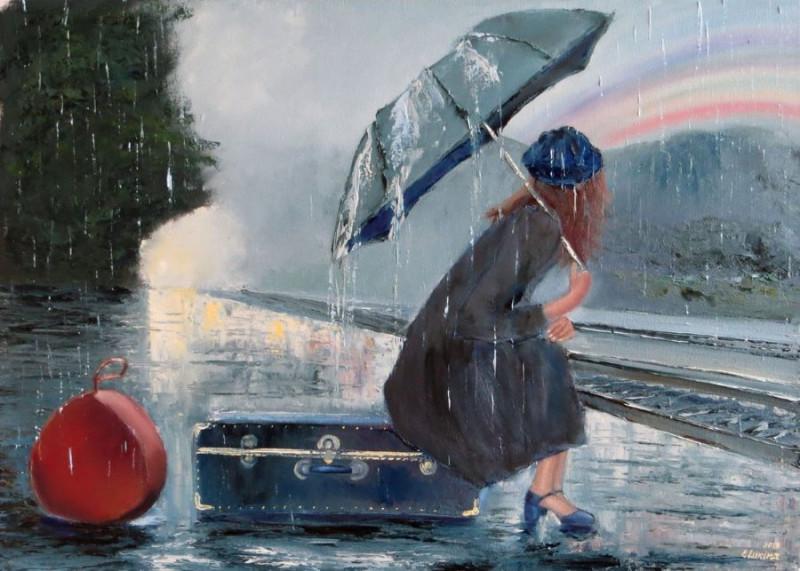 Летний дождь Художник Елена Лукина