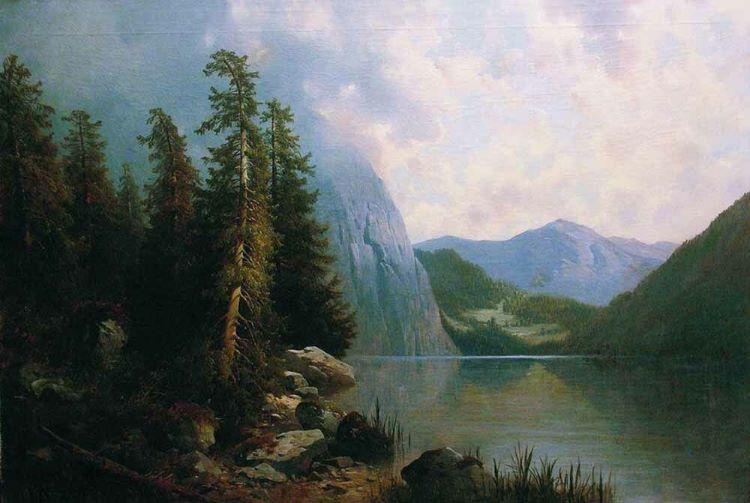 Озеро в горах Художник А.И. Мещерский