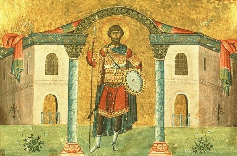 Святой Фёдор Стратилат. По сей день святой творит чудеса, через свои иконы.