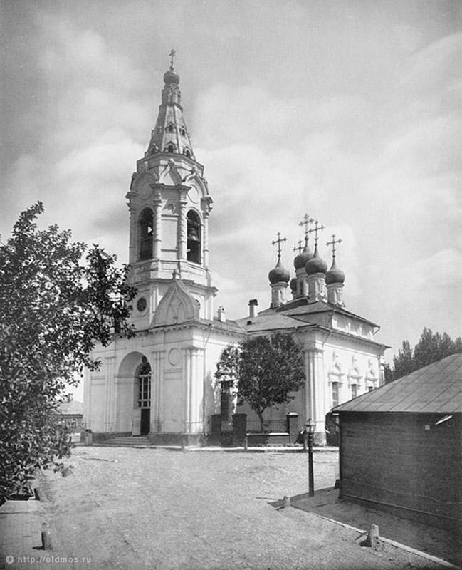 Церковь Благовещения в Бережках, снесена в 1950 году