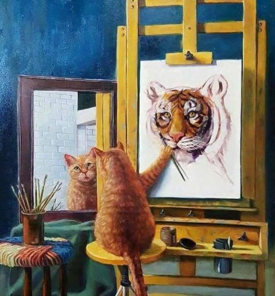 автопортрет котика