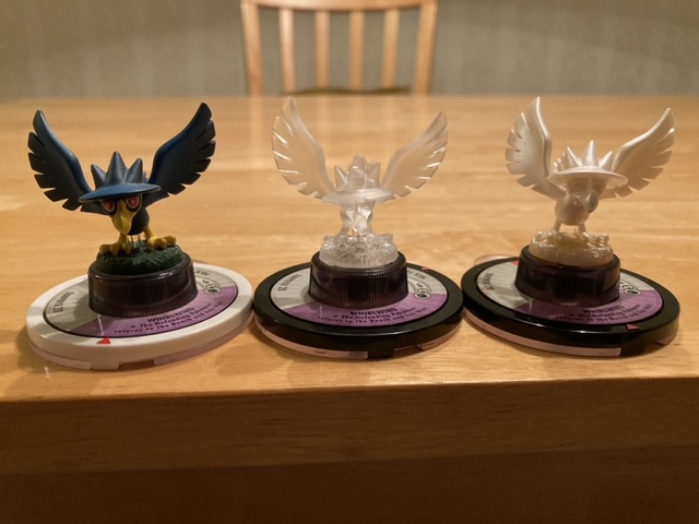 Same as the three Eevee, this is the first time with all three Murkrow.  The Pearl one isn't on its original base, so I'm still looking for that.