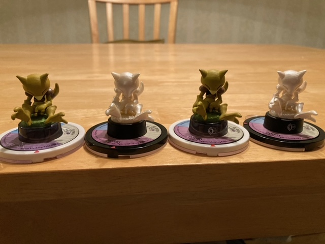 I already had the 1st edition Pearl Abra, but I just picked up an unlimited, so here are all four versions.