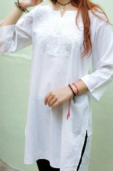 Рубашка-туника женская своими руками