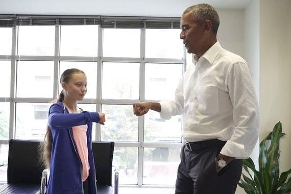 Грета и ее любимый Президент
