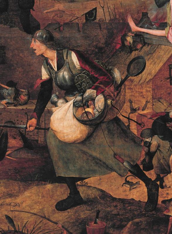 """""""Безумная Грета"""" - фрагмент одноименной картины Брейгеля Старшего."""