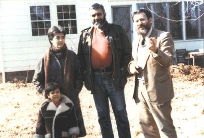 Лена и Сергей Довлатовы с сыном Колей в гостях у Игоря Ефимова, 1985