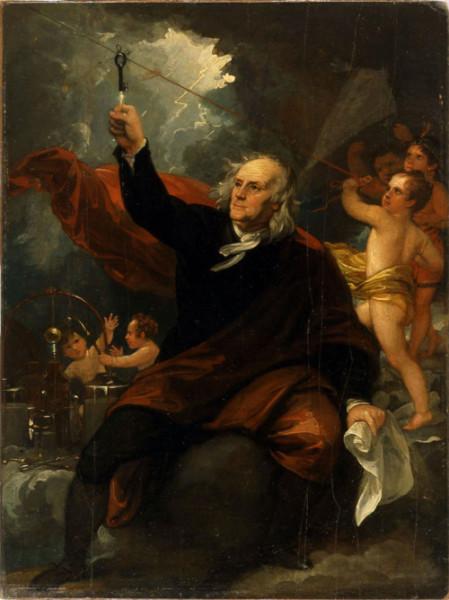 Бенжамин Франклин и громоотвод