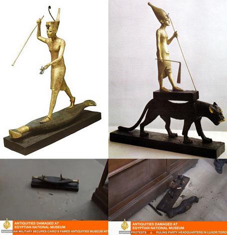 Уничтоженные фигурки Тутанхамона