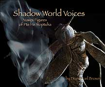 """Shadow World Voices"" by Franz Brown, book cover"
