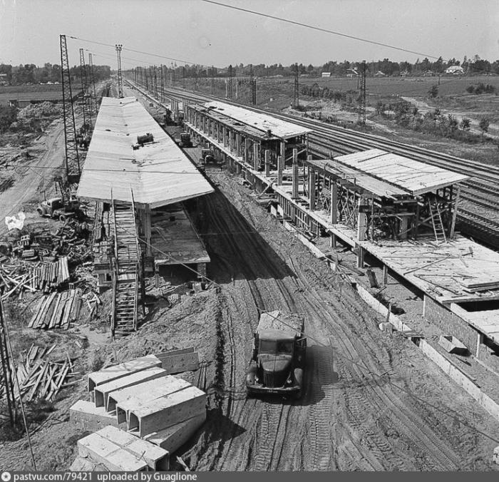 Строительство станции метро Ждановская, 1966 год, Москва
