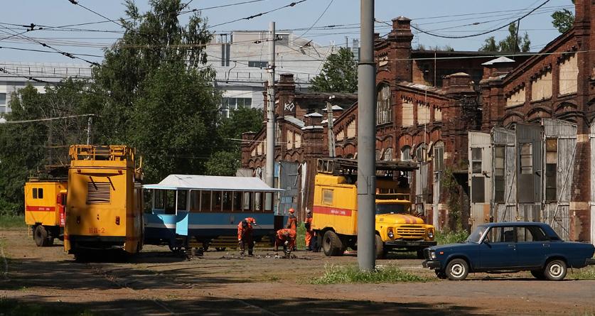 Демонтаж Василеостровского тармвайного парка. © Сергей Чернов