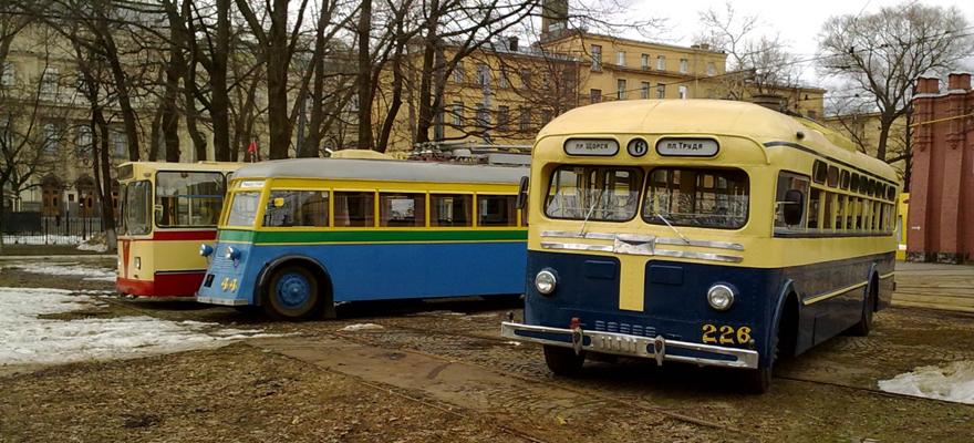 Музейные троллейбусы ЗиУ-9, ЯТБ-1, МТБ-82Д. Фото: Александр Савельев