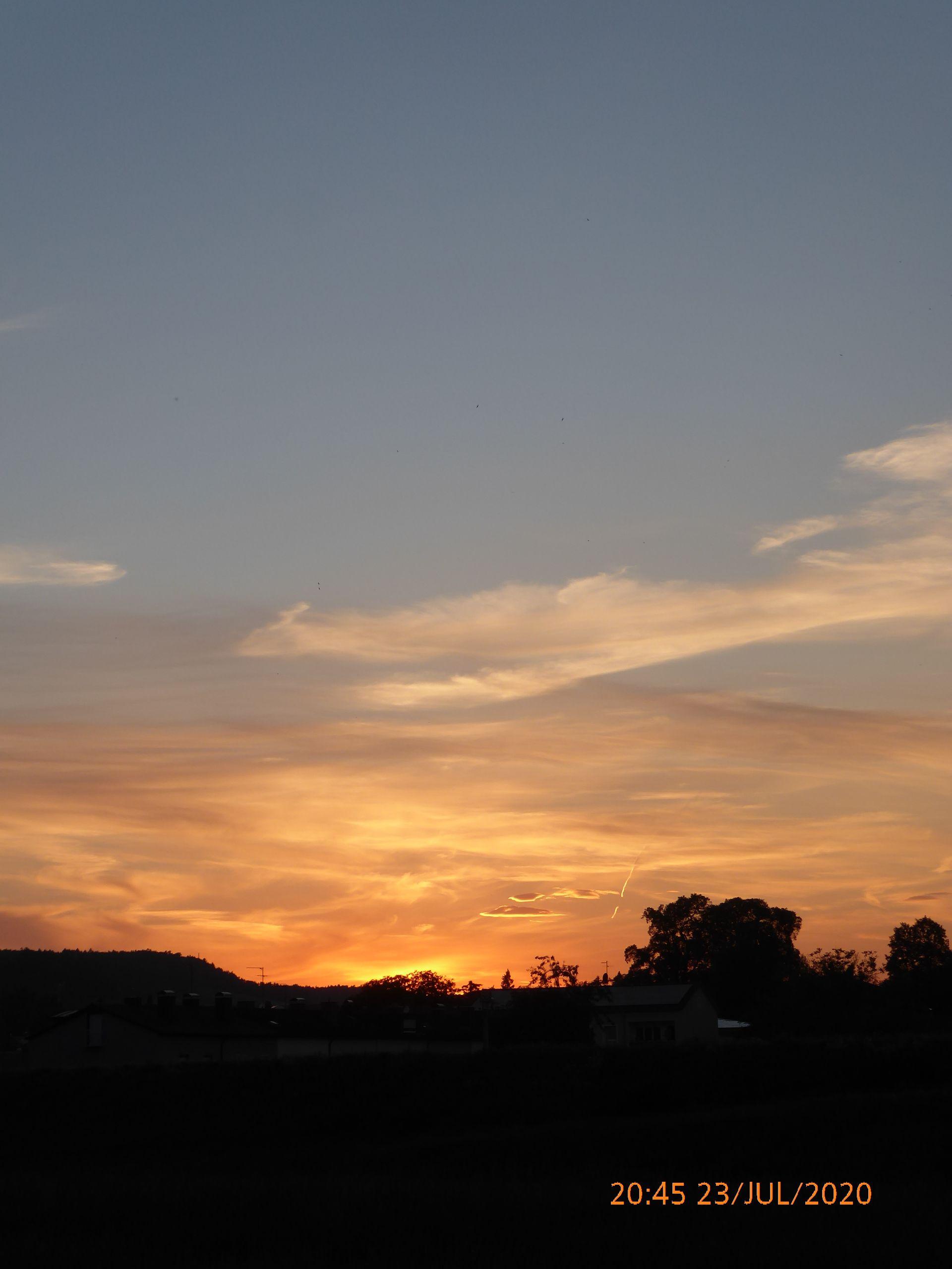 Закат на Инне.