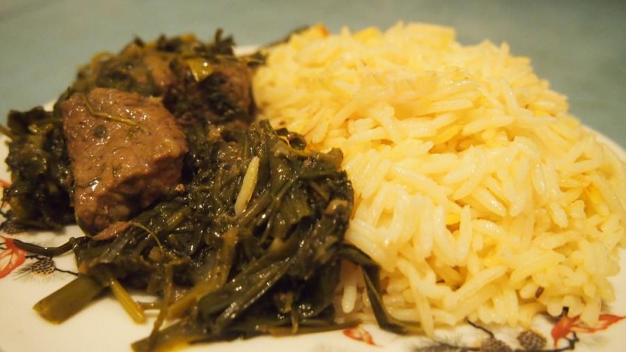 мясо Рецепт зеленью сабзи с азербайджанское блюдо