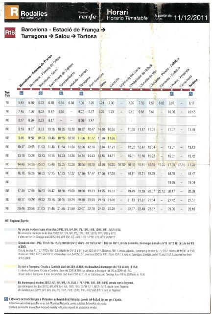 Испания, поезд, расписание