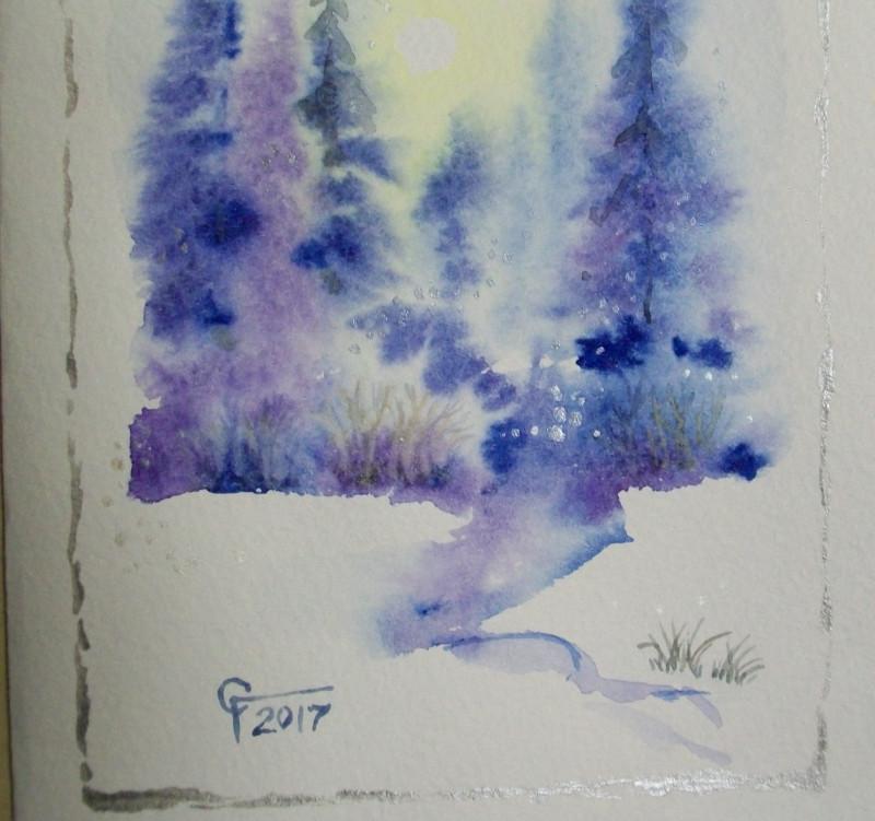 Рисунки к новому году на открытки ручкой и акварелью, развития лягушки картинках