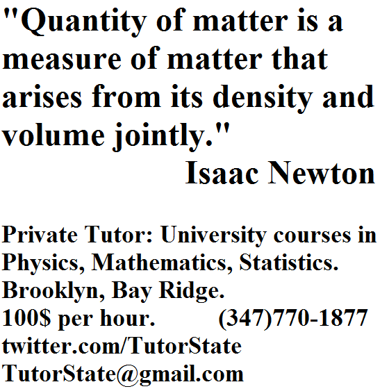 Quantity of matter is a measure of matter that arises from its density and volume jointly