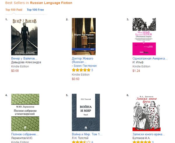 Amazon Best Sellers_ Best Russian Language Fiction - Google Chrome 2017-02-09 23.42.40