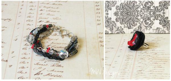 Комплект украшений Passionate Rock_браслеты ручной работы