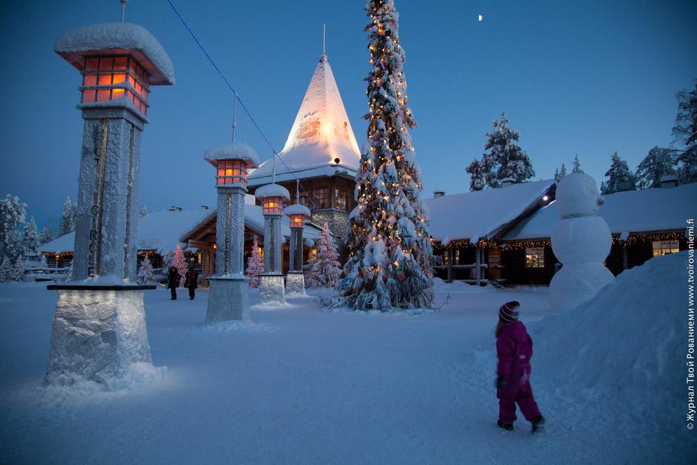 Деревня Санта Клауса в Рованиеми, Лапландии