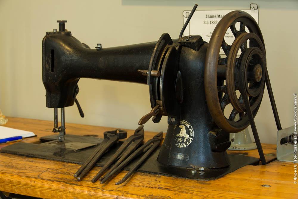 Швейная машина Зингер на фабрике Марттиини.