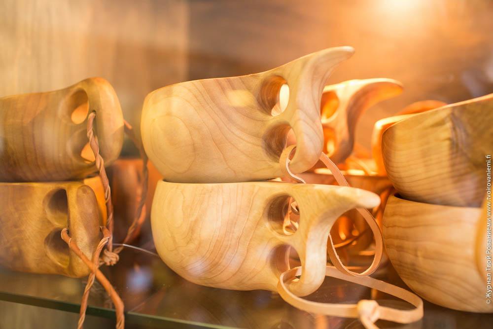 Лапландские чашки Кукса из березового капа.