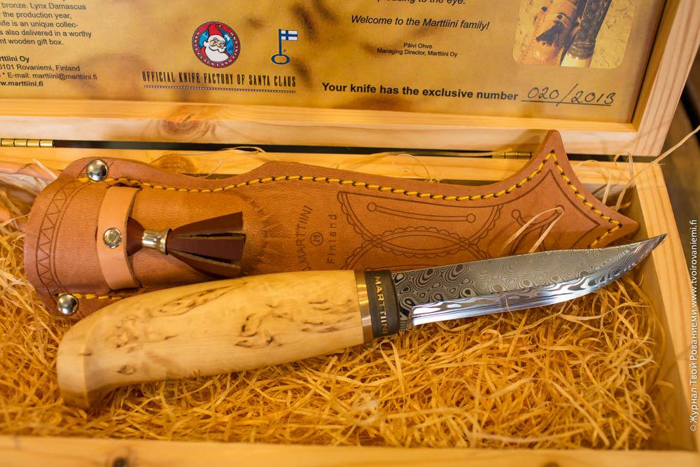 Нож из дамасской стали Марттиини.