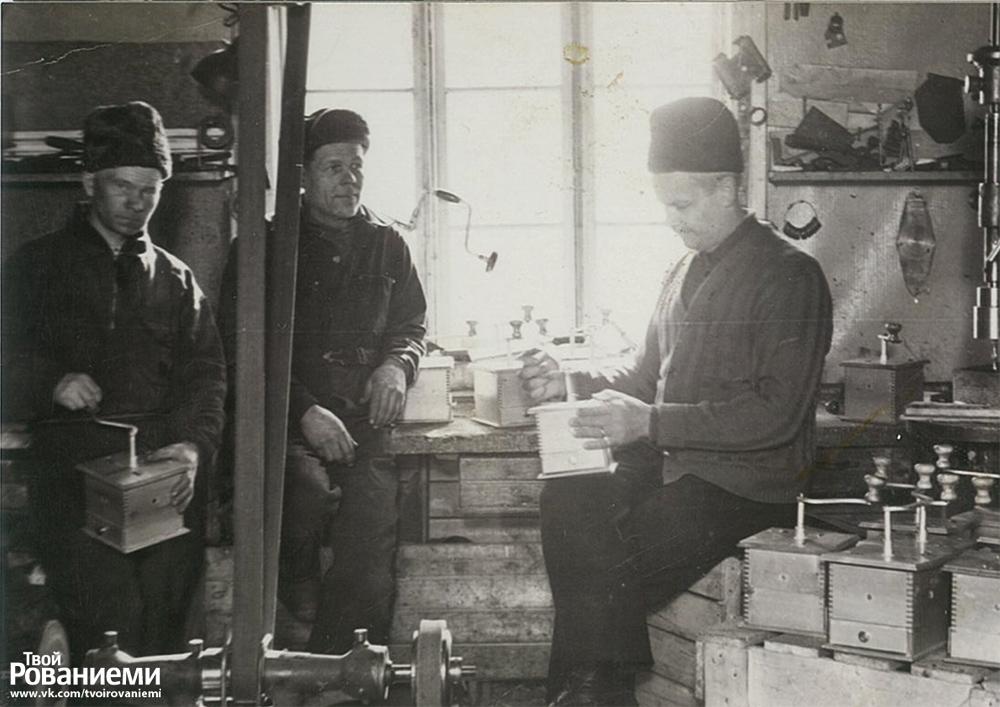 Производство кофемолок на фабрике Марттиини.