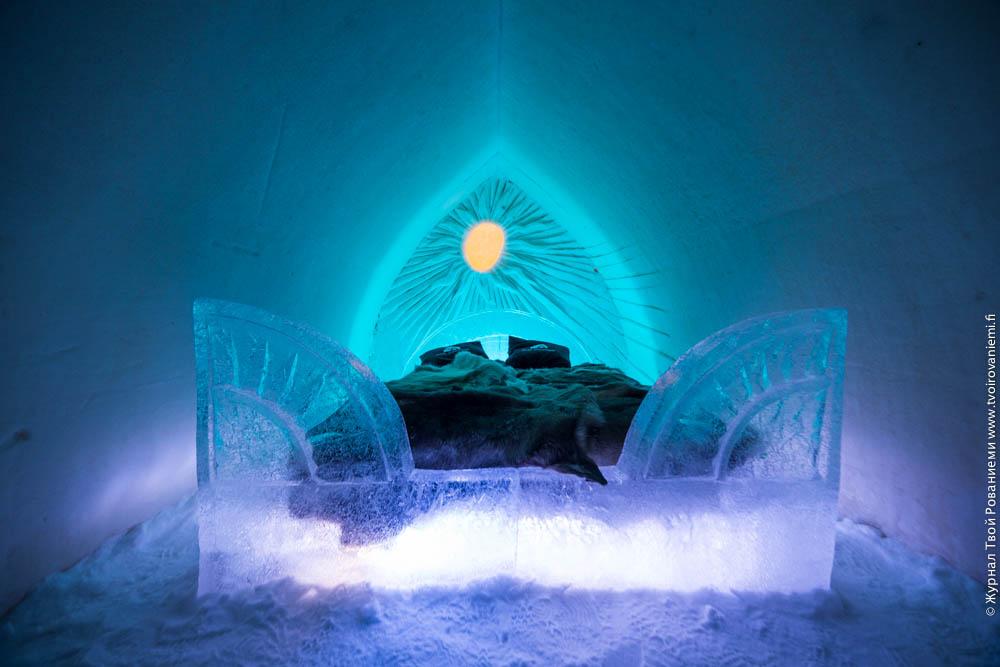 Тематический номер-свит в снежном отеле Arctic Snowhotel в Рованиеми