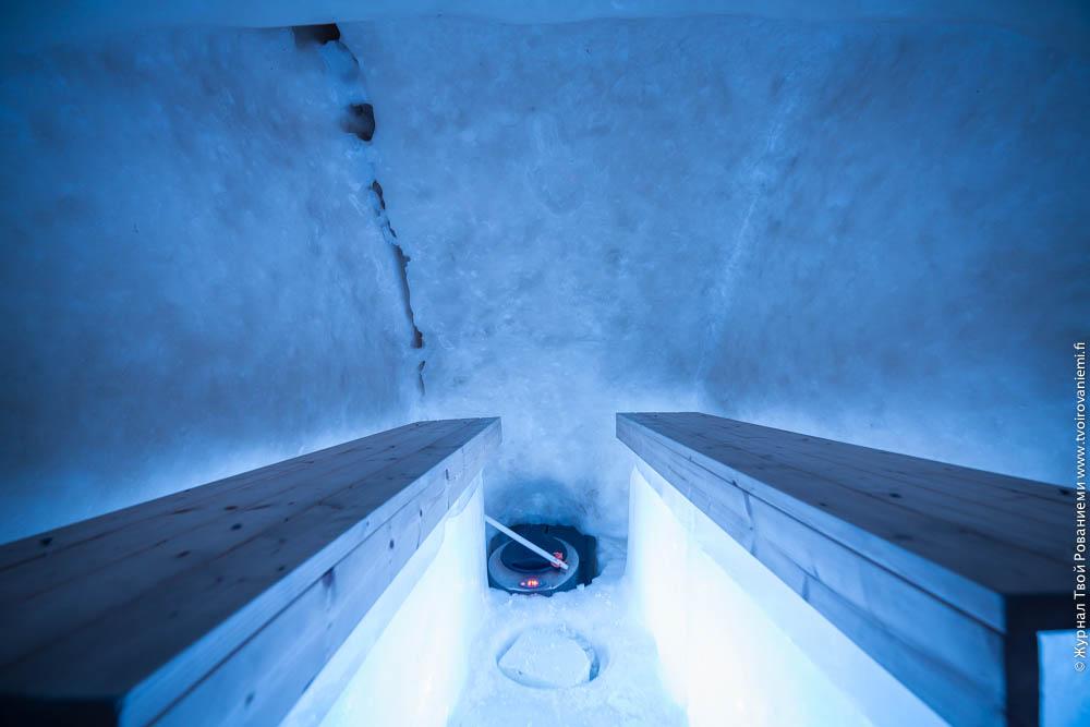 Ледяная сауна в Арктик Сноу отеле