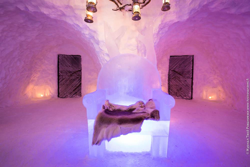 Ледяной трон в ресторане Сноуленд