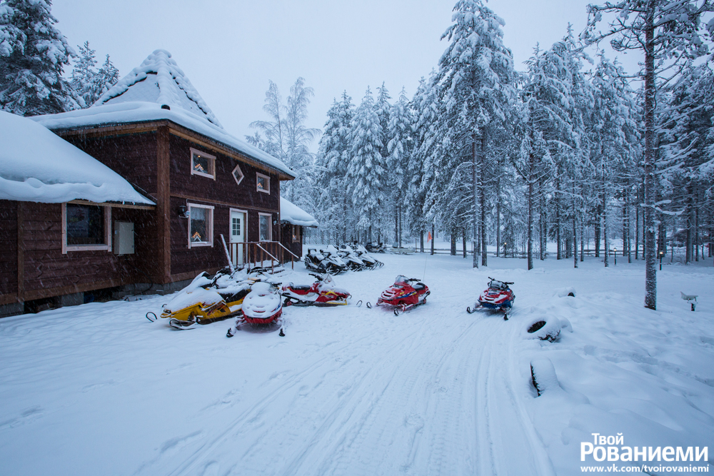 Дом снегоходов в Деревне Санта Клауса