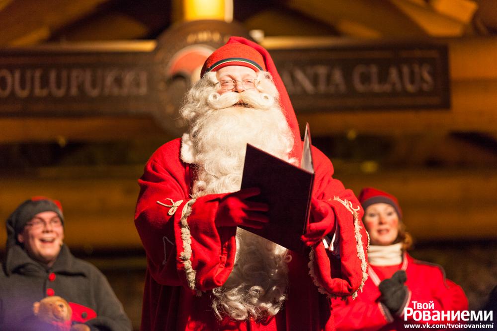 Йоулупукки открывает сезон Рождества в Деревне Санта Клауса