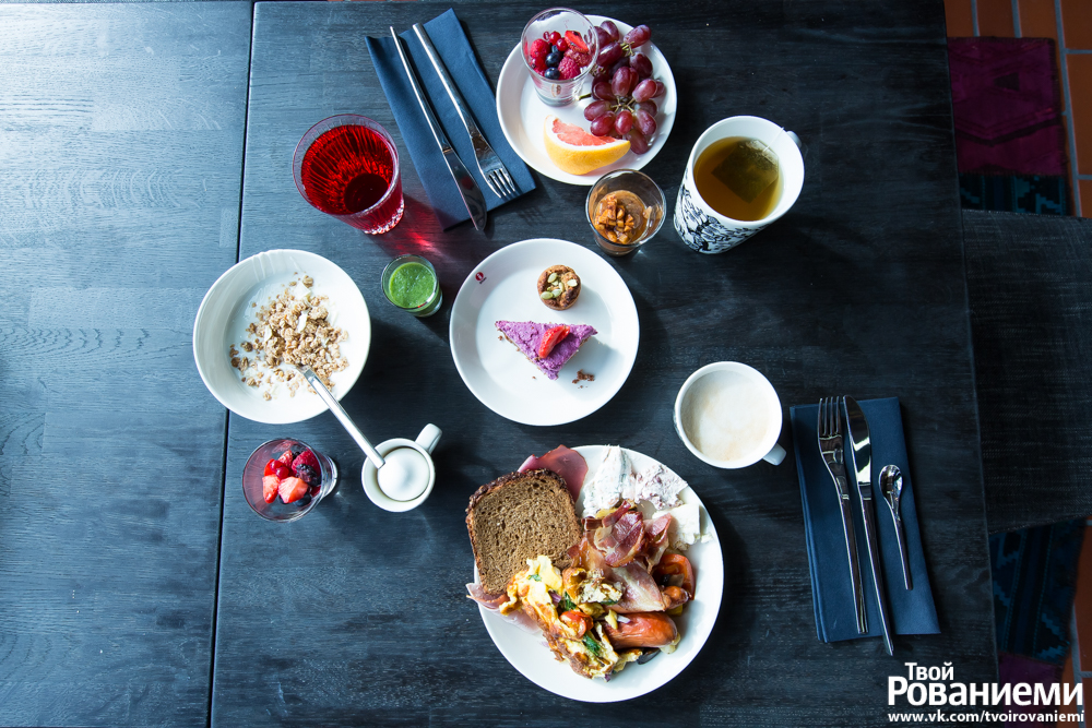 Завтрак в гостинице Arctic Light Hotel