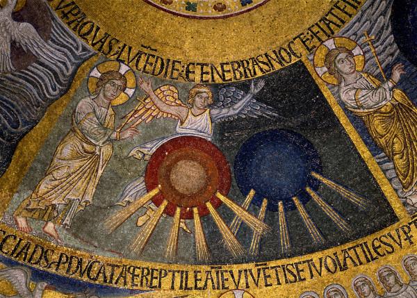 Сотворение света (Быт. 1, 3-5)(Сотворение мира). Западный рукав; Италия. Венеция. Собор Святого Марка; XIII в.