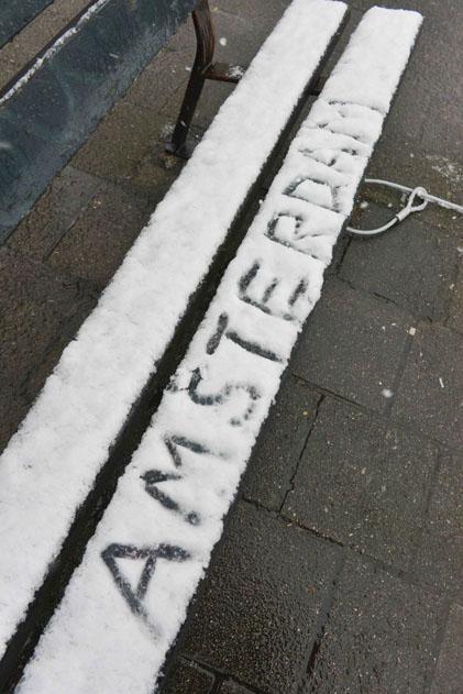 Амстердам зима
