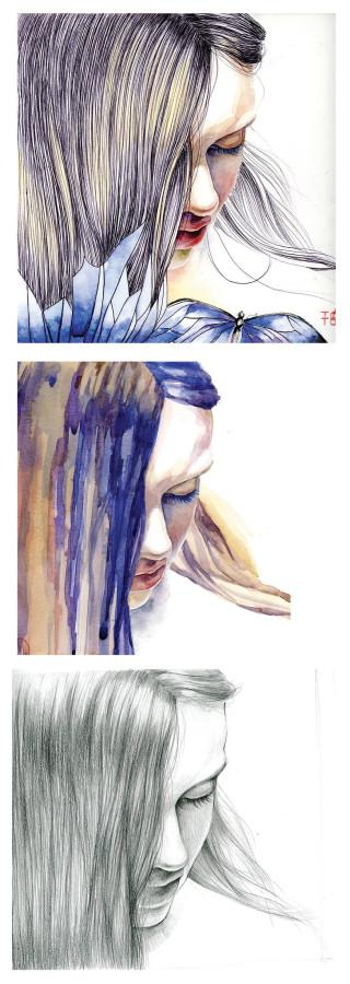 portreit watercolor