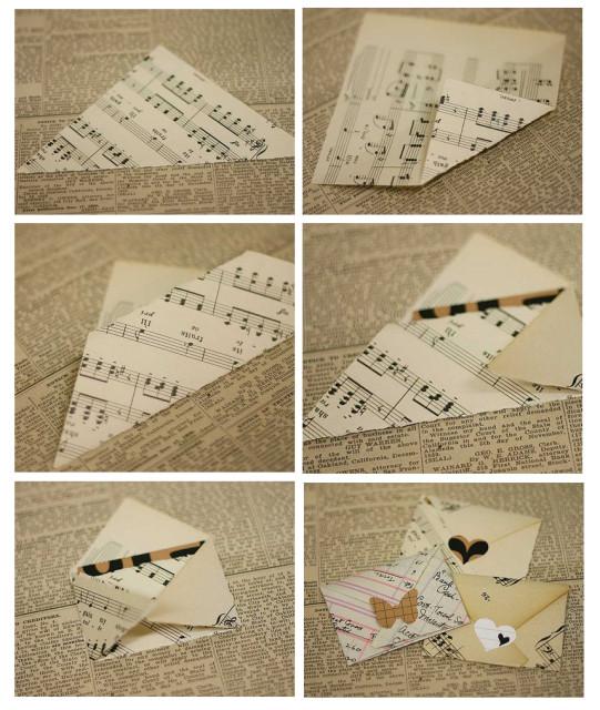 Как сделать конверт своими руками фото