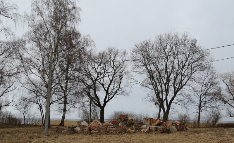 Развалины на территории Нижней дачи