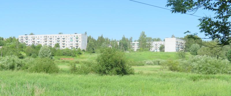 Вид на военный городок со стороны Сольцов