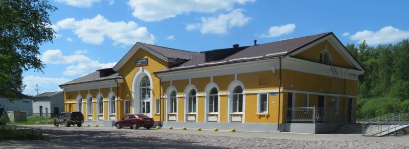 Здание вокзала станции Сольцы