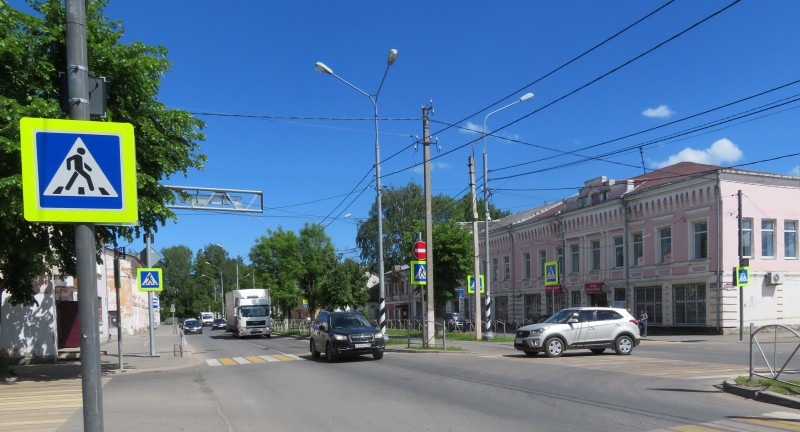Перекресток ул.Луначарского и Советского проспекта
