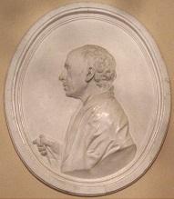 А.Ринальди (1709 — 1794). Копия барельефа работы Ф. И. Шубина размещена в вестибюле Дворца Петра III