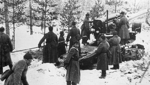 Артиллерия больших калибров вскрыла неприступную линию обороны финской армии и предрешила разгром белофиннов