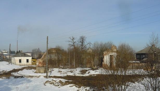 Руины Успенской церкови на территории Макарьевского городища