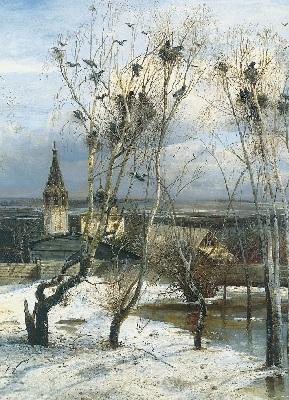 Грачи прилетели. А. К.Саврасов, 1871