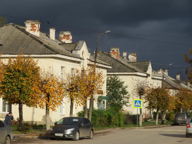 Дома вдоль Советской улицы