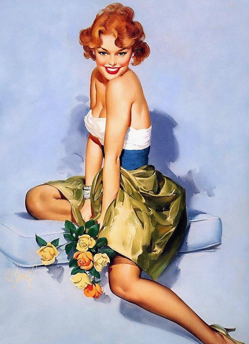 Рыжая девушка в стиле пип гел 4 фотография